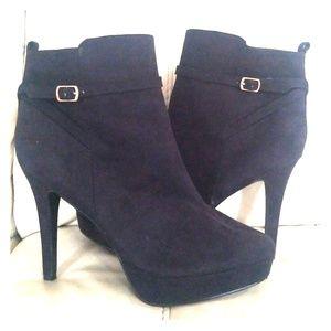 H&M Black Heeled Booties - Size 9.5